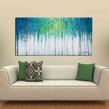 Framed Abstract Landscape Single Painting on Canvas