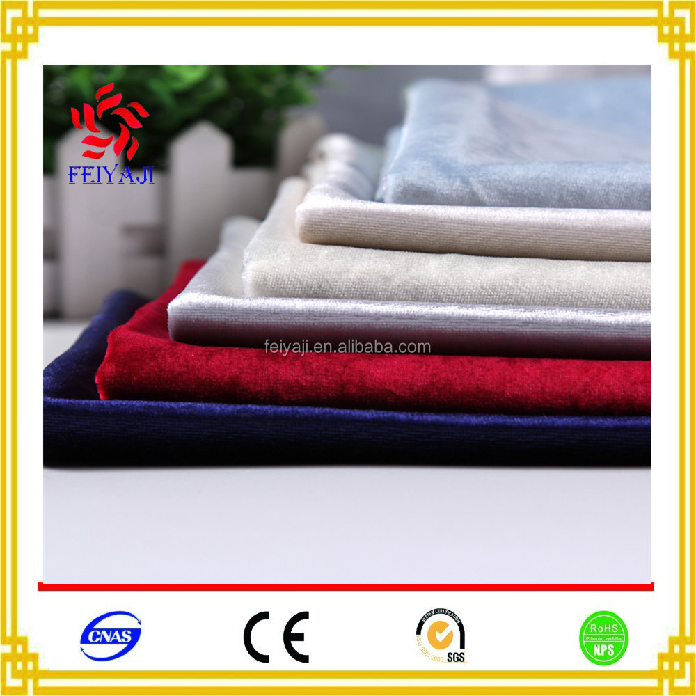 China Product Silver Fiber Korea Solid Velvet Fabric From China Factory