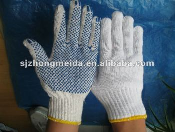 Promoting Good Breath Ability Working Cotton dots Gloves