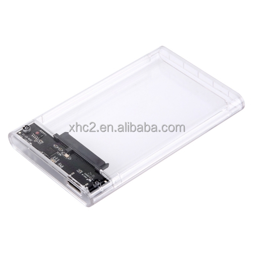 hot selling 2017 new Products USB3.0 2.5 inch Transparent SATA SSD HDD External Hard Drive Enclosure Disk Case Box for PC