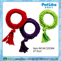 Solid Color Braided Rope Ring Dog Rope Tug Knit Rope Toy For Dog Bite