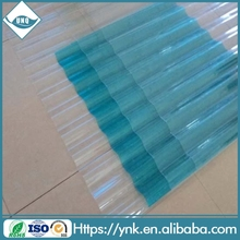 10-year warranty transparent corrugated polycarbonate roofing sheet