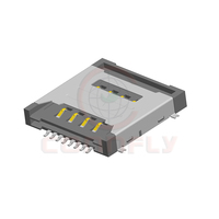 1.27mm Height 3.1mm 8 Positions Dual SMT Type SIM Card