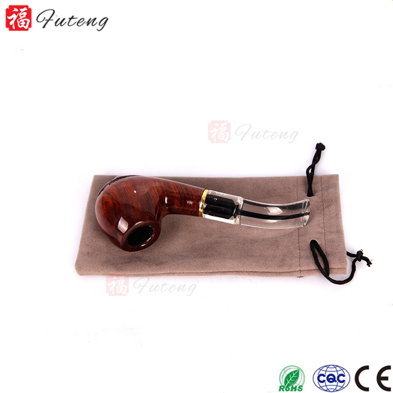 Handmade Real Red Sandalwood Craved Tobacco Smoking Pipe Classic Bent Pipe for Sale