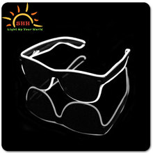 2016 Wholesale New Style Glow In The Dark Luminous Frame Custom Logo Glasses Ce Uv400 Fluorescent Glow In The Dark Sunglasses