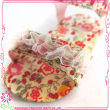 Farvision small flower pattern doll shoes how to make doll shoes