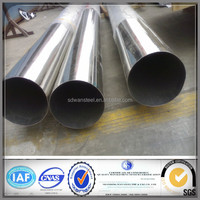 High quality polishing 500 grit 201/304/TP 316H Welded/seamless stainless steel pipe and tube fitting factory price