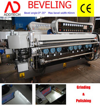 Glass beveling machine with PLC control