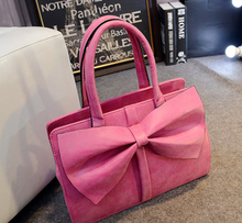 British style big bowknot women PU hand bags 2015 China wholesale fashion handbag