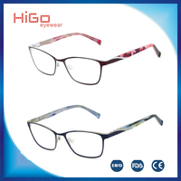 2016 Fashionable Design High Quality Stainless Optical Eyewear metal optical frame full rims spectacles