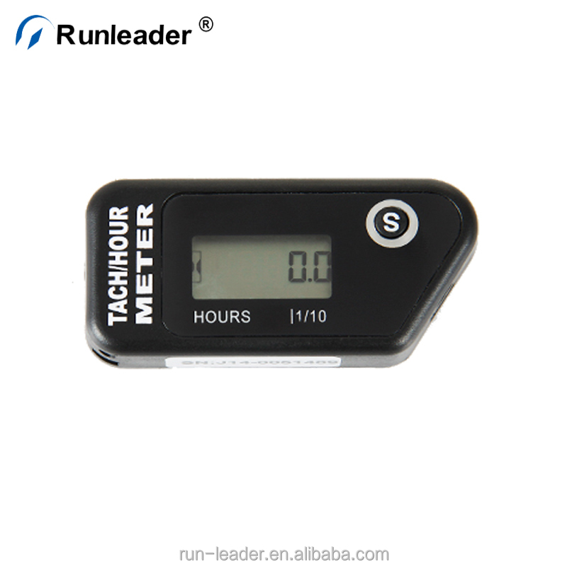 Runleader Resettable LCD Tach Hour Meter Motorcycle With 2/4 Stroke Engine
