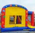 HOLA hot style inflatable bouncy castle with basketball hoop