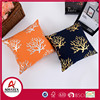 2016 hot sale gold foil or silver foil cushion , home use custom polyester cushion pillow