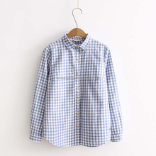 girls cotton small checked shirt