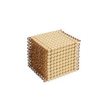 Preschool Wooden Educational Montessori Material EN71 Mathematic Toy Golden Bead 1000 Cube
