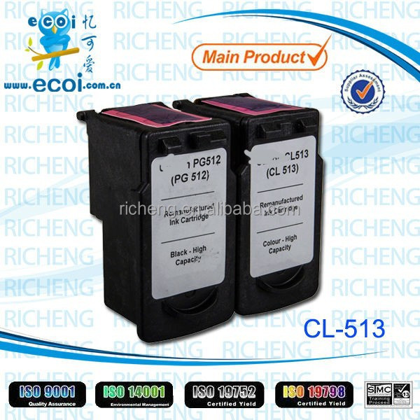 Compatible ink cartridge for canon,remanufactured ink cartridge for canon,CL513
