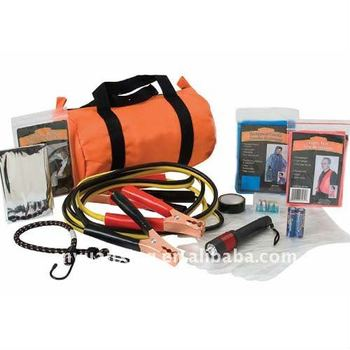 Auto emergency kits with flshlight and vest, car aid kit