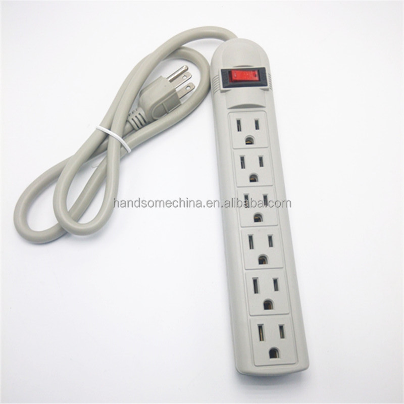 American standard 6 outlet Surge Protector Beige Power strip Beige