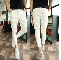 new model style denim cotton white slim men's jeans made in china