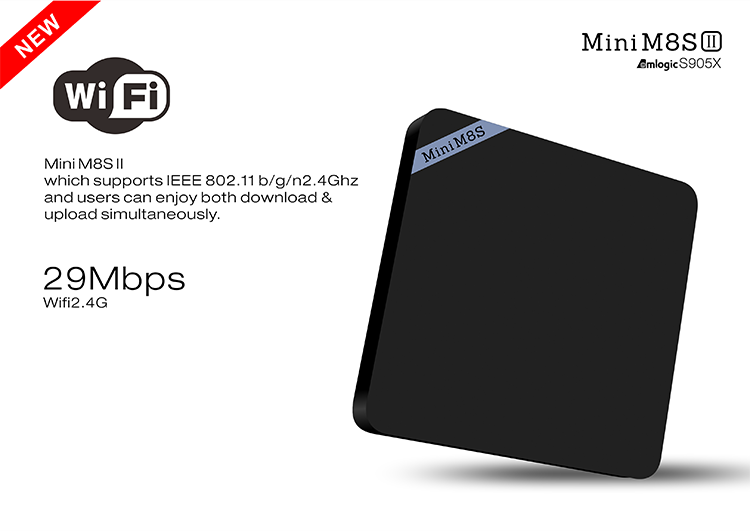 mini M8SII M8S II amlogic s905X quad core 4k kodi 16.0 tv box
