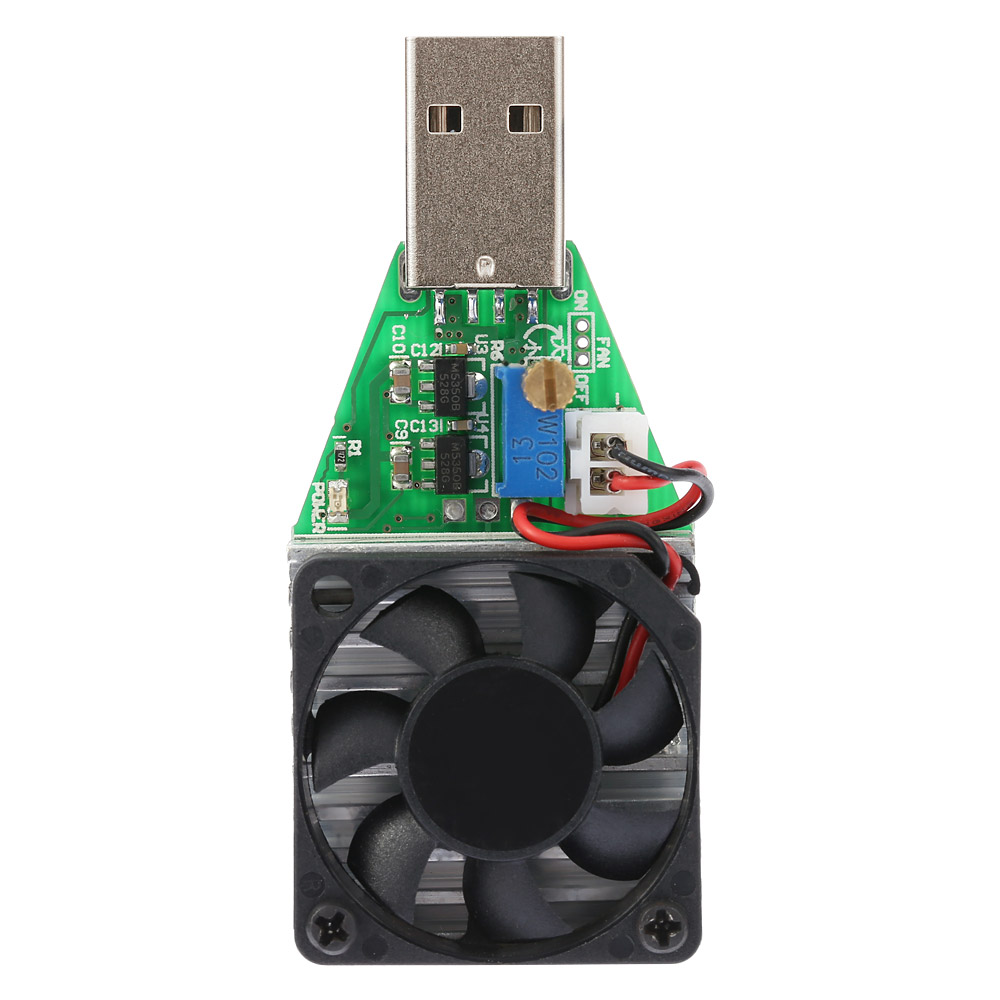 DC3.7-13V USB Adjustable Electronic Load Module Constant Current Electronic Load 0.15-3.00A Power Tester