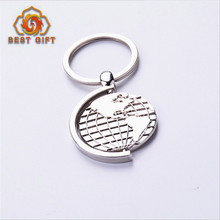 Travel gift high quality custom 3d earth shaped rotable keychain