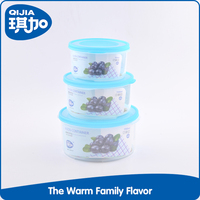 Different size keep food fresh super seal plastic containers