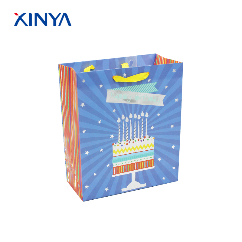 Stable quality paper gift packing bag specification for birthday