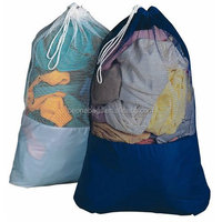 Waterproof Nylon Mesh Drawstring Commercial Industrial Laundry Bag