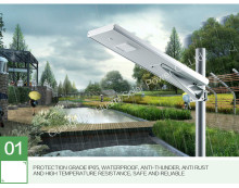 Guangzhou Factory 15W All in one solar street light