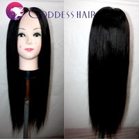 1x4(LxH) middle parts u part human hair wigs inida remy human hair healthy natural black machine made wig free shipping
