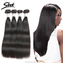 Sleek 8A 10 to 30 Inch Double Weft Brazilian Straight Remy Human Hair Bundle Extension