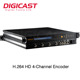 DMB-8810 Cable TV Digital Encoder HD SDI signals to ASI 4-Channel MPEG4 H.264 HD IP Encoder Codificador