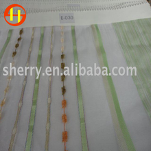 latest fashion design african jacquard voile curtain fabric polyester linen curtain fabric