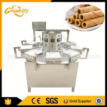 Automatic egg roll making machine / Chocolate egg roll baking equipment / Egg roll machine