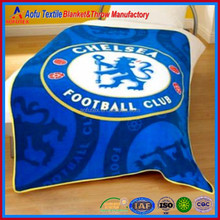 130cm x 180 cm Chelsea FC Football Club letters logo printed Fleece Bed Sofa Throw Blanket