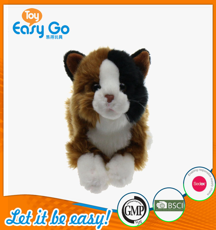 Customized furry cute tabby cat plush toys