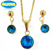 Olivia stones African costume jewelry sets 2017 new design African jewelry sets gold wholesale retail wedding jewelry