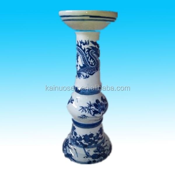 chinese modern vase ceramic blue white flower vase