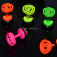 Wholesale Jewelry China Black Circle Studs Earrings in Bulk
