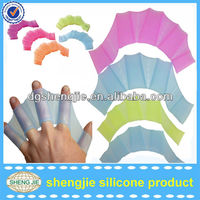 ONE PAIRS SILICONE WEBBED SWIM AQUA SURF SCUBA GLOVES WOMENS GIRLS SWIMMING MITTS