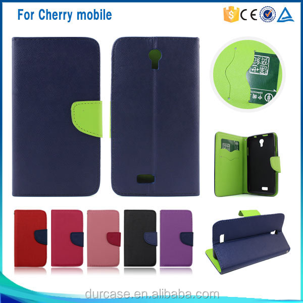 pu leather case cover for cherry mobile,for cherry mobile flip case