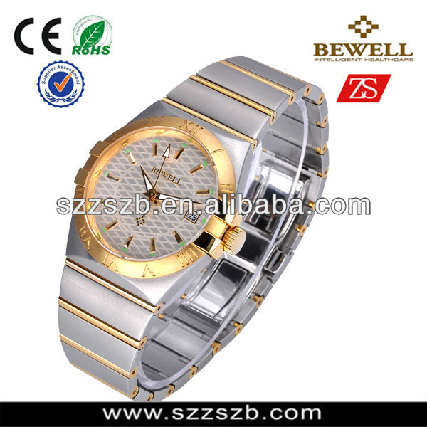 Luxurious Magnificent Men's Stainless Steel Automatic Mechanical Watch With Calendar