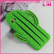 Cute Fashion Cactus 3D Phone Rubber Case For iPhone 7 7 Plus Green Cactus Silicon Case