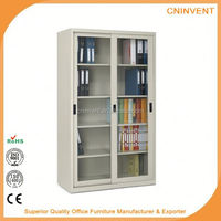 Guangzhou office furniture steel metal filing cabinets with glass doors