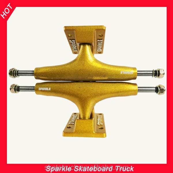 Sparkle Skateboard Truck With Golden Paint