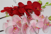 Spring decoration silk fabric butterfly orchid flower