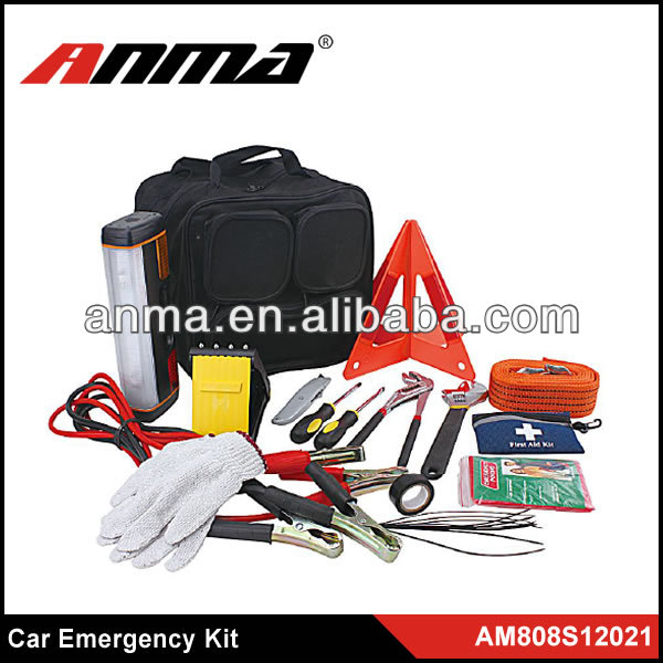 safety emergency kit for car/auto/ roadside safety kit with combination bag