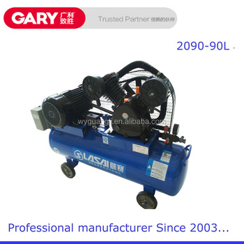 Belt driven piston type electric air compressor and air for Piston type air motor