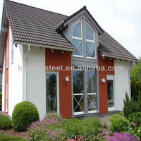 light weight steel structure frame house LGS houses